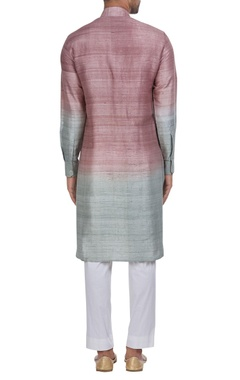 Ombre pattern kurta and churidar.