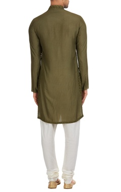 Matka silk classic kurta with churidar