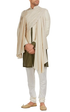 Jodhpuri jacket in draped layers
