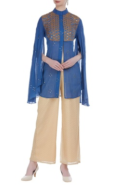 Rriso Draped tunic with embroidered pants