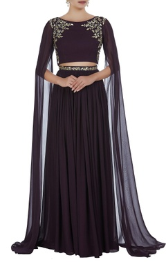 Hand embroidered cutdana & pearl lehenga with blouse