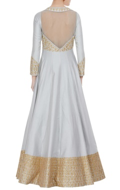 Gota embroidered anarkali with parsi dupatta