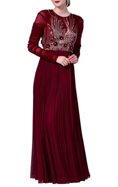 Vedangi Agarwal Embroidered dress with flared pleated style