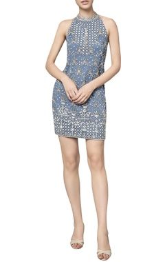 Anita Dongre Halter net dress with sequin & dori embroidery