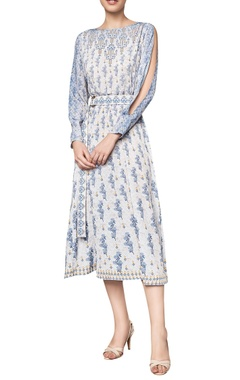 Anita Dongre Floral printed cut-out sleeved midi dress
