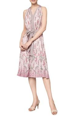 Anita Dongre Digital printed floral tie-up dress