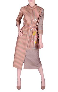 NAUTANKY Khadi striped shirt dress
