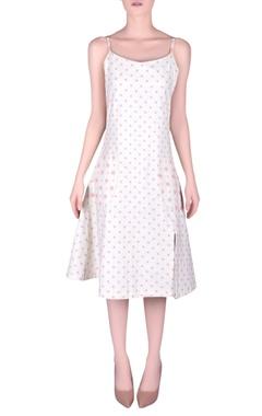 NAUTANKY Polka dot pattern slip dress