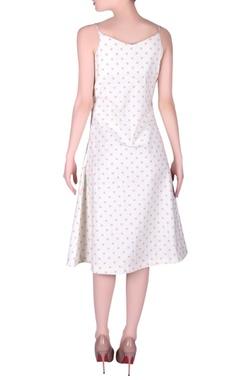 Polka dot pattern slip dress
