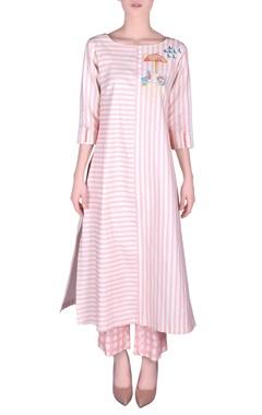 NAUTANKY Khadi stripe kurta with pants