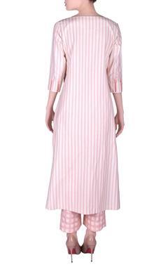 Khadi stripe kurta with pants