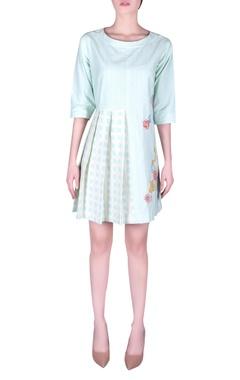 NAUTANKY Bead embroidered pleated mini dress