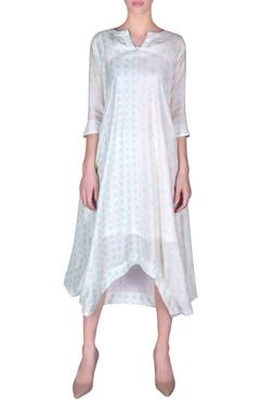 NAUTANKY Printed asymmetric cotton silk tunic