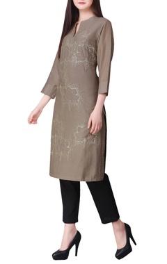 Zari hand embroidered & sequin lotus tunic