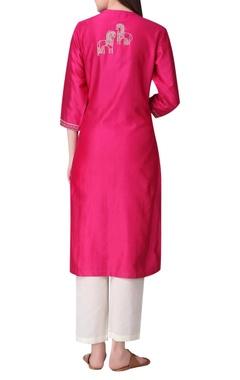 Chanderi silk zari embroidered tunic