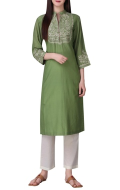 Thread embroidered tunic