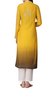 Embroidered tunic with flared hem