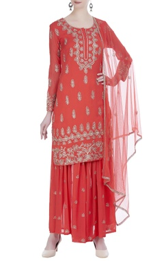 Dori embroidered kurta and palazzo set