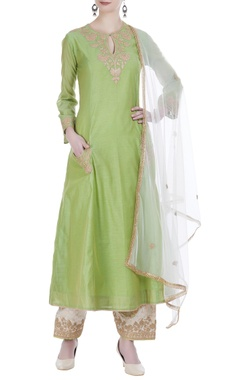 Kiran dori embroidered anarkali set