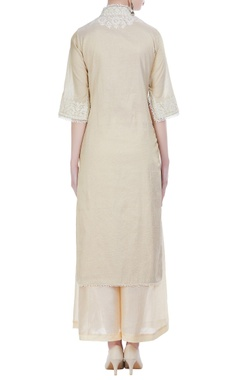 Dori embroidered straight fit kurta set