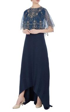 Kavita Bhartia Maxi dress with embroidered cape top