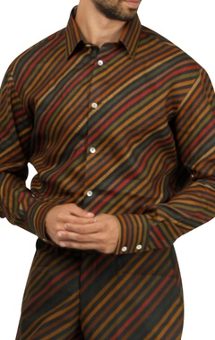 Stripes shirt with jodhpuri pants