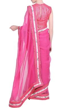 Kota doria gota border saree with blouse