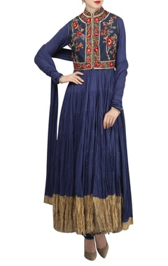 Rohit Bal Jalabia anarkali set in hand & machine embroidery
