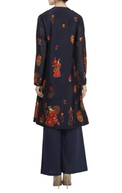 Chanderi floral digital printed kurta