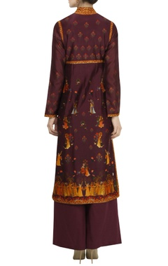 'Rass lila' digital printed kurta set