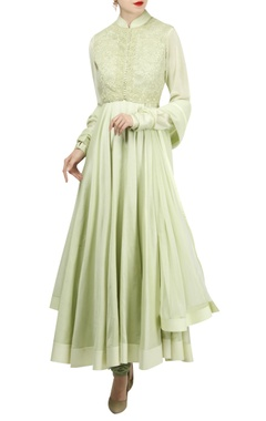 Rohit Bal Dori embroidered chanderi anarkali set