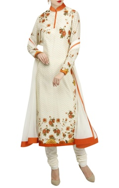 Rohit Bal Floral digital printed kurta set