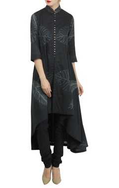 Rohit Bal Shibori dyed chanderi high-low kurta