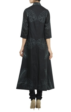 Shibori dyed chanderi high-low kurta