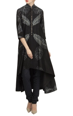 Rohit Bal Chanderi high-low flared kurta
