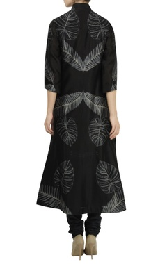 Chanderi high-low flared kurta