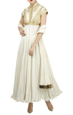 Rohit Bal Zari aari embroidered anarkali set