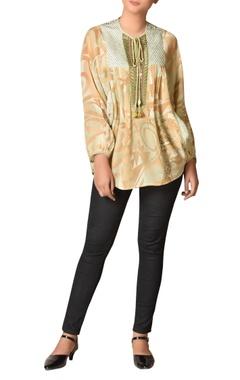 Ritu Kumar Rayon crepe short kurta with kimono sleeves