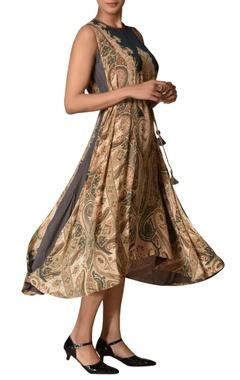 Ritu Kumar Kashmiri jamavar printed high low dress