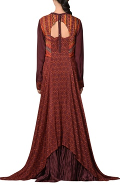 Hand embroidered flared dress