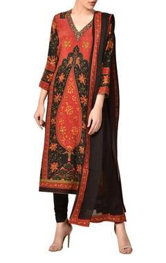 Ritu Kumar Kalamkari printed crepe silk kurta set