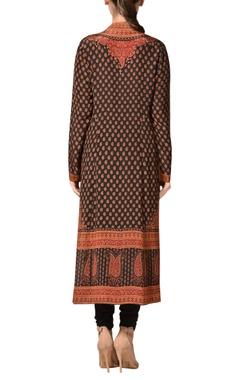 Crepe silk kashmiri-inspired printed kurta set