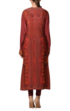 Hand thread embroidered african inspired kurta set