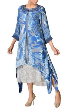 Handkerchief hemline african-inspired kurta with inner