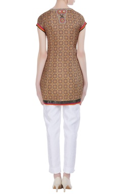 Voile printed short tunic