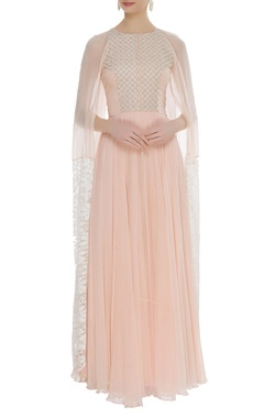 Thread & sequin embroidered maxi dress