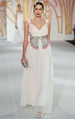 Floral embroidered butterfly gown