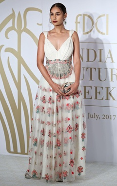 Varun Bahl Floral embroidered mononet gown