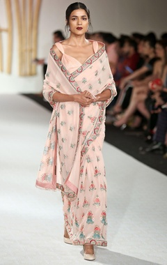 Varun Bahl Multibooty embroidered sari with blouse & petticoat