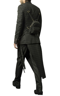 Plaid suiting fabric jacket